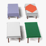 Masa Örtüsü Dikdörtgen Masa 3d model