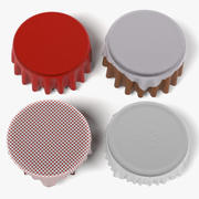 Table with Tableclothes Rounds set 3d model