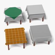 Tables avec nappes (Carré) 3d model
