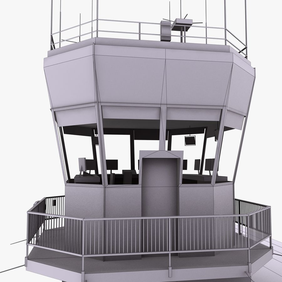 Airport Terminal royalty-free 3d model - Preview no. 13