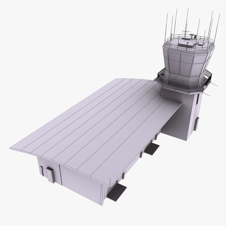Airport Terminal royalty-free 3d model - Preview no. 10