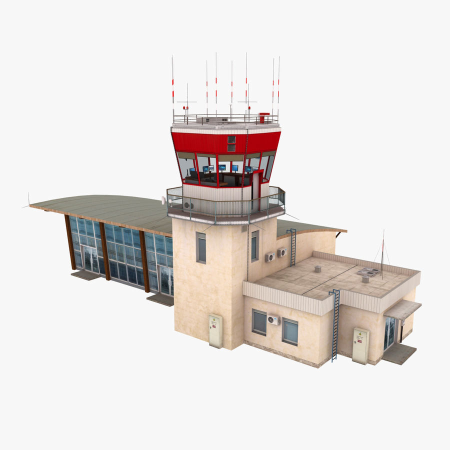 Airport Terminal royalty-free 3d model - Preview no. 1