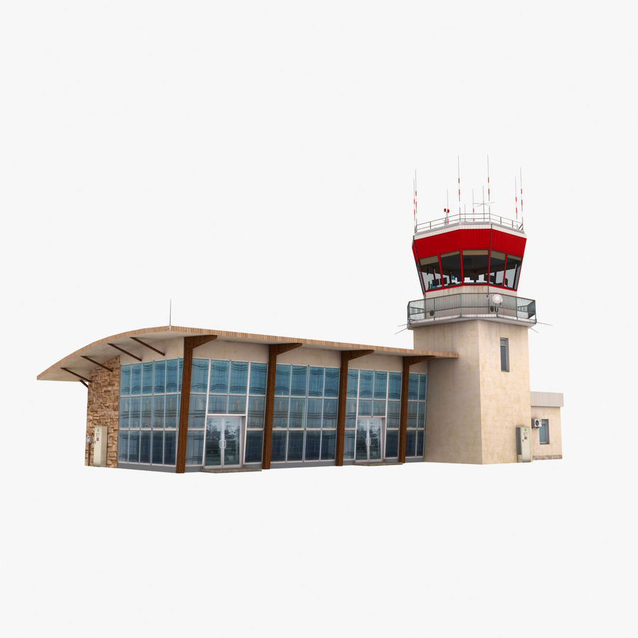 Airport Terminal royalty-free 3d model - Preview no. 4