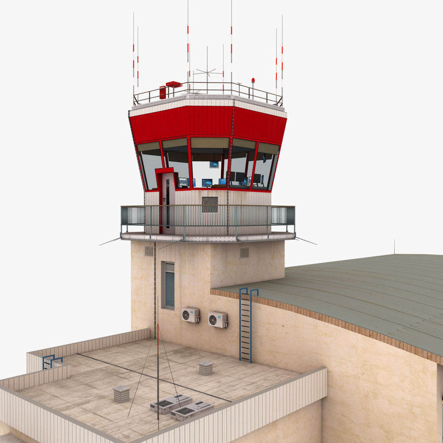 Airport Terminal royalty-free 3d model - Preview no. 7