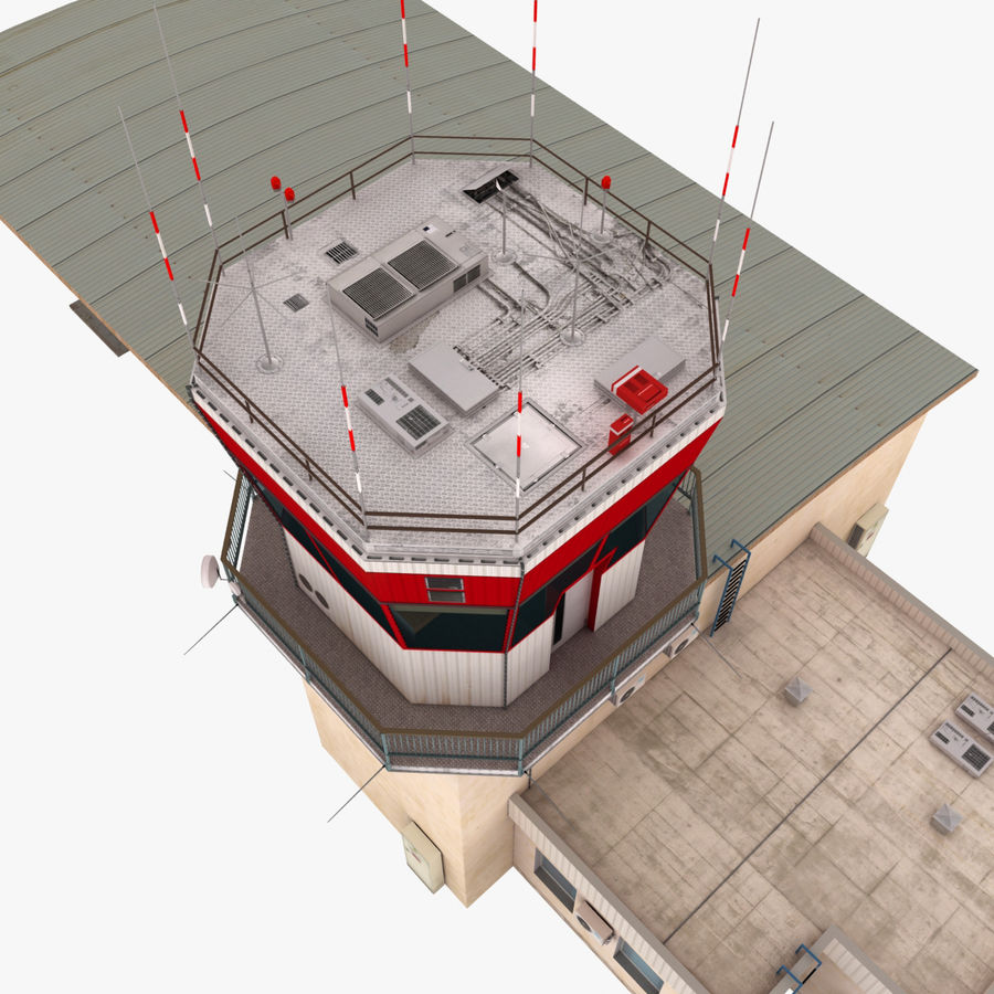 Airport Terminal royalty-free 3d model - Preview no. 9