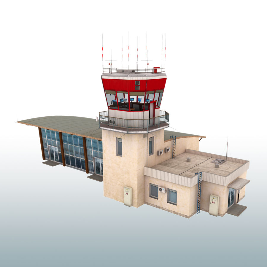 Airport Terminal royalty-free 3d model - Preview no. 2