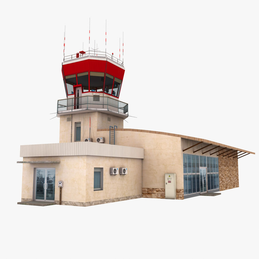 Airport Terminal royalty-free 3d model - Preview no. 6
