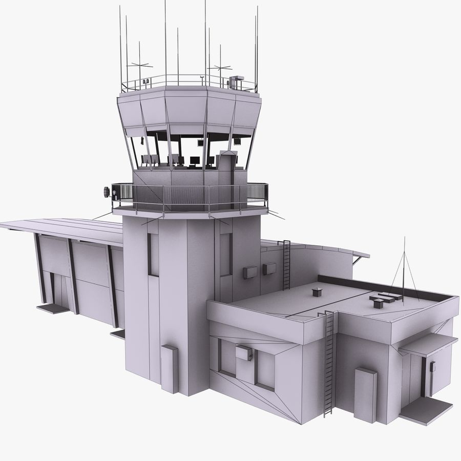 Airport Terminal royalty-free 3d model - Preview no. 12