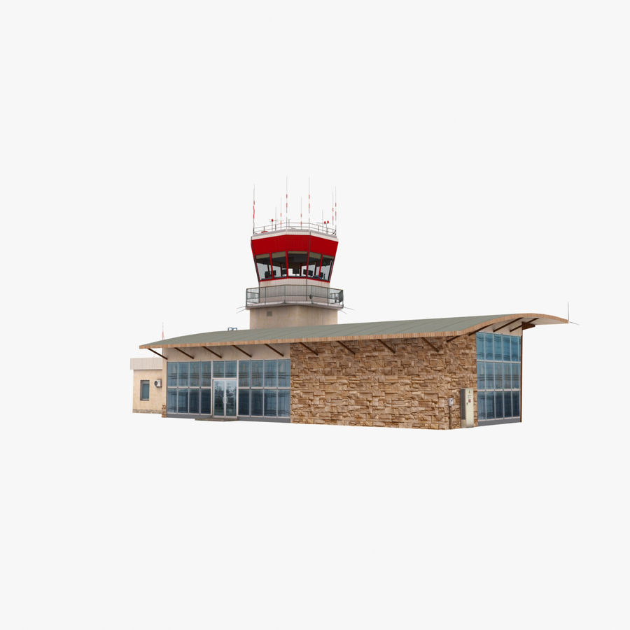Airport Terminal royalty-free 3d model - Preview no. 5