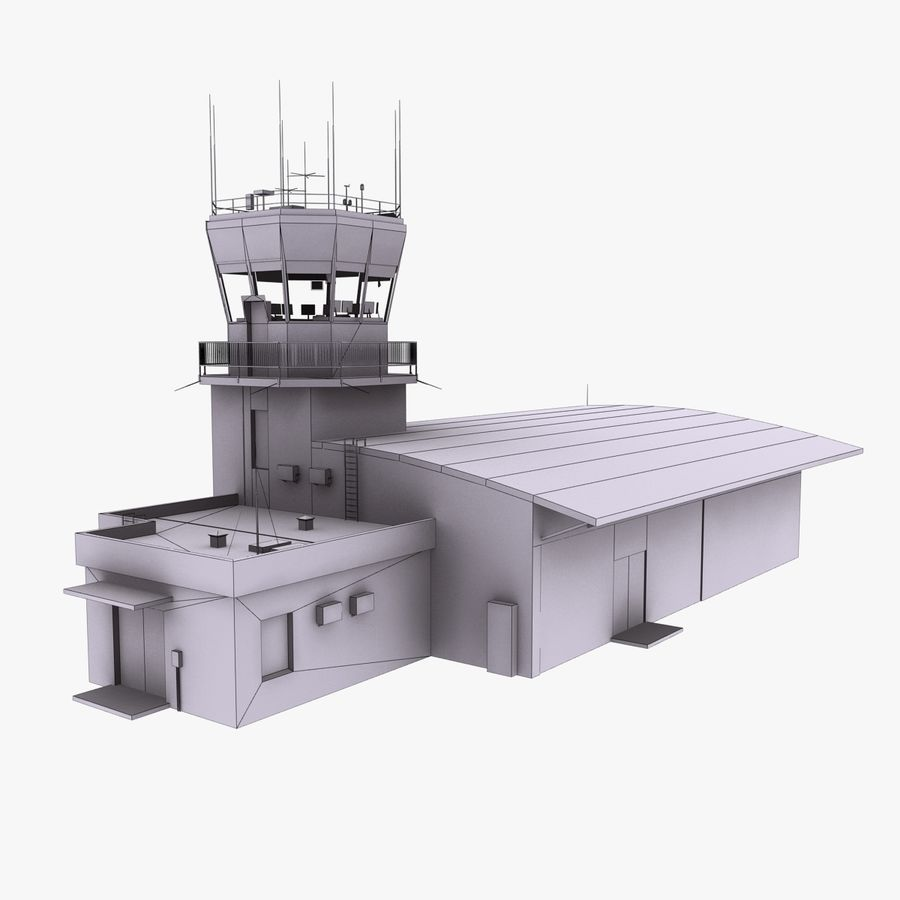 Airport Terminal royalty-free 3d model - Preview no. 11