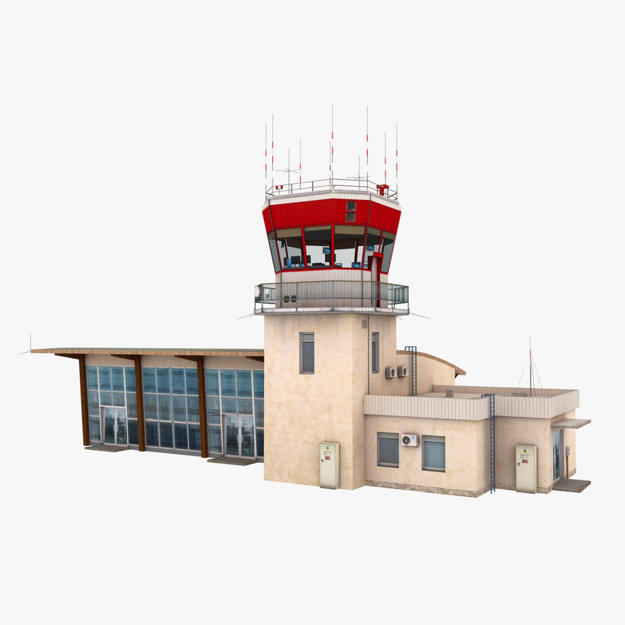 Airport Terminal royalty-free 3d model - Preview no. 3