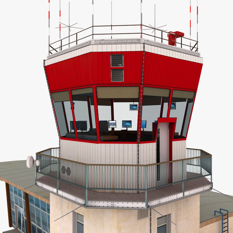 Airport Terminal royalty-free 3d model - Preview no. 8