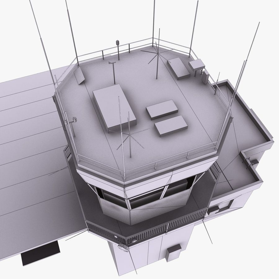 Airport Terminal royalty-free 3d model - Preview no. 14