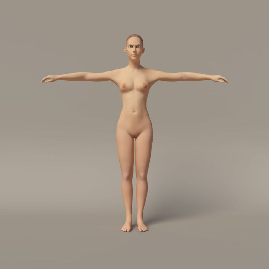 Emma - Rigged Femelle Low Poly royalty-free 3d model - Preview no. 2
