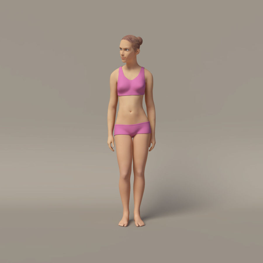 Emma - Rigged Femelle Low Poly royalty-free 3d model - Preview no. 18