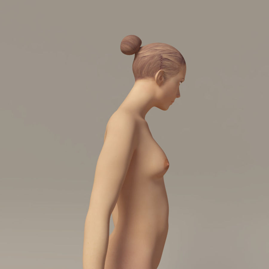 Emma - Rigged Femelle Low Poly royalty-free 3d model - Preview no. 14