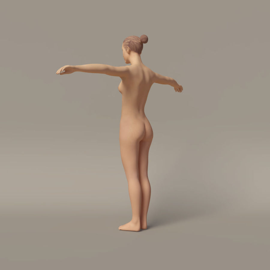Emma - Rigged Femelle Low Poly royalty-free 3d model - Preview no. 5