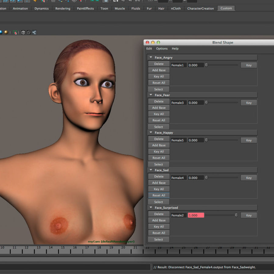 Emma - Rigged Femelle Low Poly royalty-free 3d model - Preview no. 35