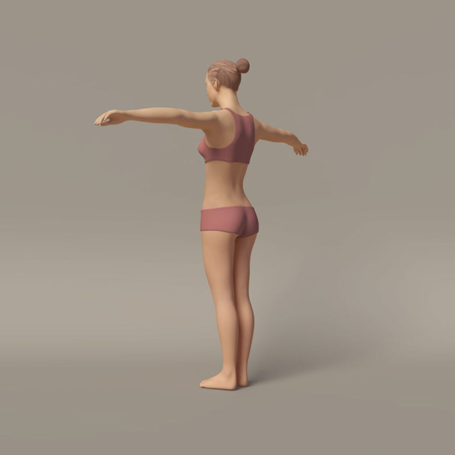 Emma - Rigged Femelle Low Poly royalty-free 3d model - Preview no. 8