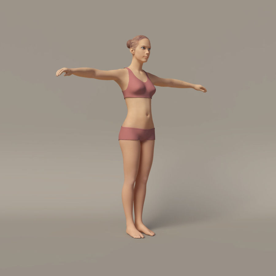 Emma - Rigged Femelle Low Poly royalty-free 3d model - Preview no. 1