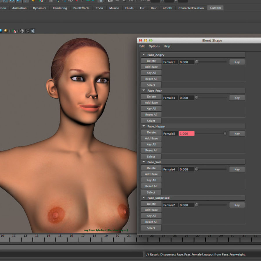 Emma - Rigged Femelle Low Poly royalty-free 3d model - Preview no. 33