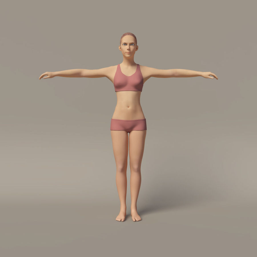 Emma - Rigged Femelle Low Poly royalty-free 3d model - Preview no. 6