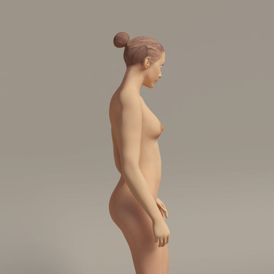 Emma - Rigged Femelle Low Poly royalty-free 3d model - Preview no. 13