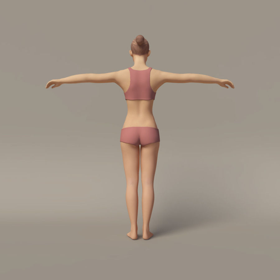 Emma - Rigged Femelle Low Poly royalty-free 3d model - Preview no. 7