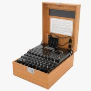 Enigma Cipher Machine 02 3d model
