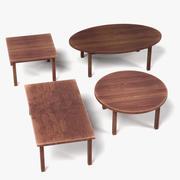 木桌 3d model
