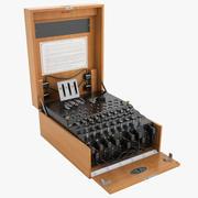 Maszyna szyfrująca Enigma 01 3d model