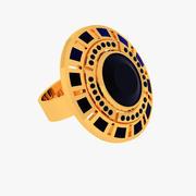Pierścień z biżuterią 3d model