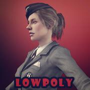 nazi girl 3d model
