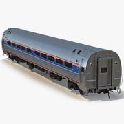 Railroad Amtrak Passenger Car 3d model