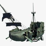 Barco destrozado modelo 3d