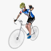 Racing Cyclist Rigged 3d model