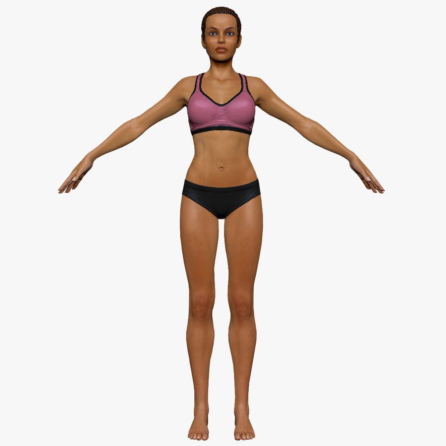 Idrottsutövare för kvinnlig kondition 1 royalty-free 3d model - Preview no. 4