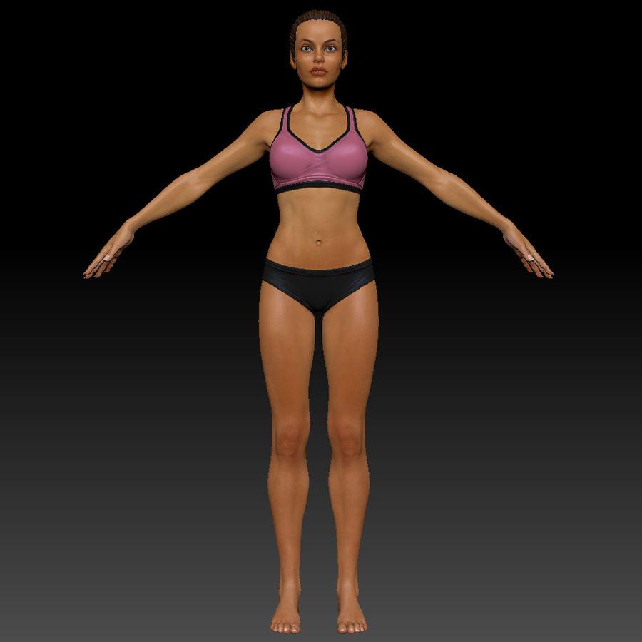 Idrottsutövare för kvinnlig kondition 1 royalty-free 3d model - Preview no. 17