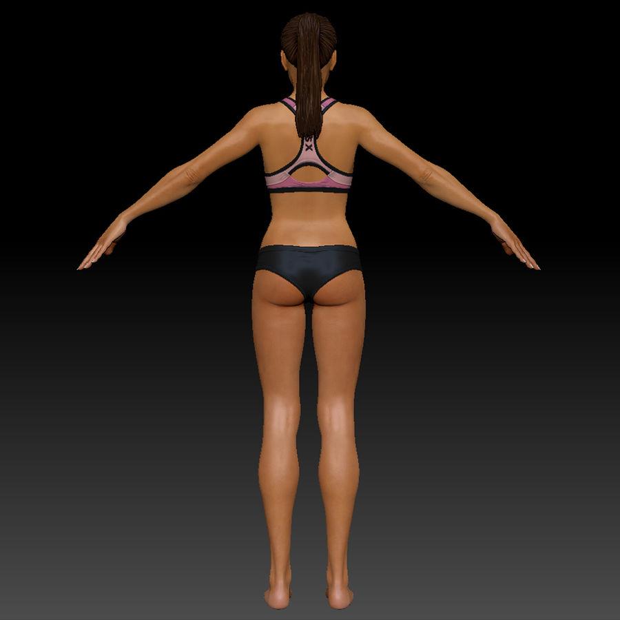 Idrottsutövare för kvinnlig kondition 1 royalty-free 3d model - Preview no. 5