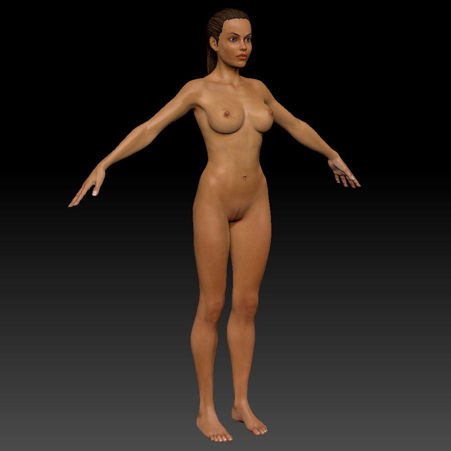 Idrottsutövare för kvinnlig kondition 1 royalty-free 3d model - Preview no. 7