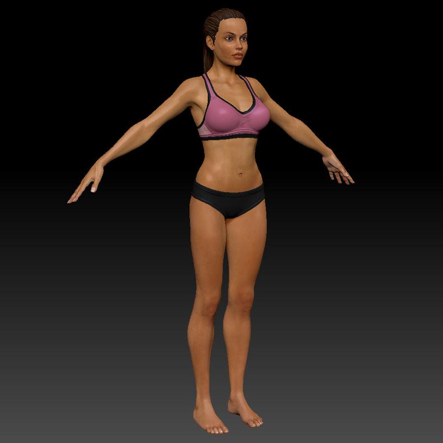 Idrottsutövare för kvinnlig kondition 1 royalty-free 3d model - Preview no. 6