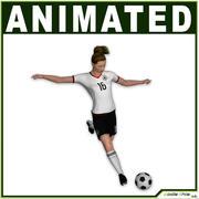 여자 축구 선수 CG 3d model