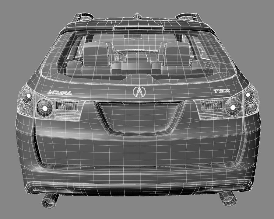 Acura TSX-wagen 2015 royalty-free 3d model - Preview no. 12