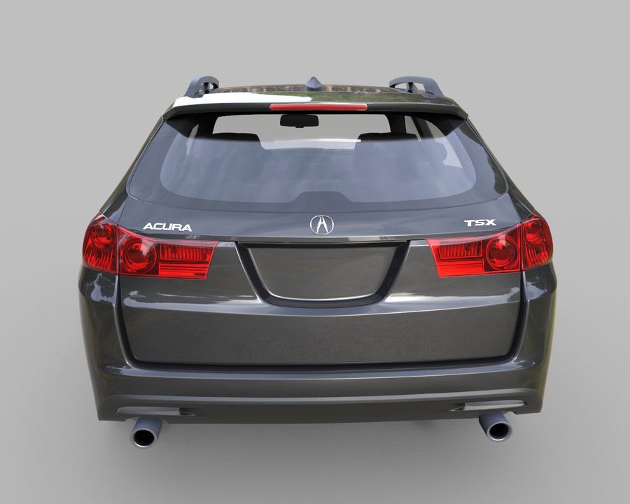 Acura TSX-wagen 2015 royalty-free 3d model - Preview no. 6