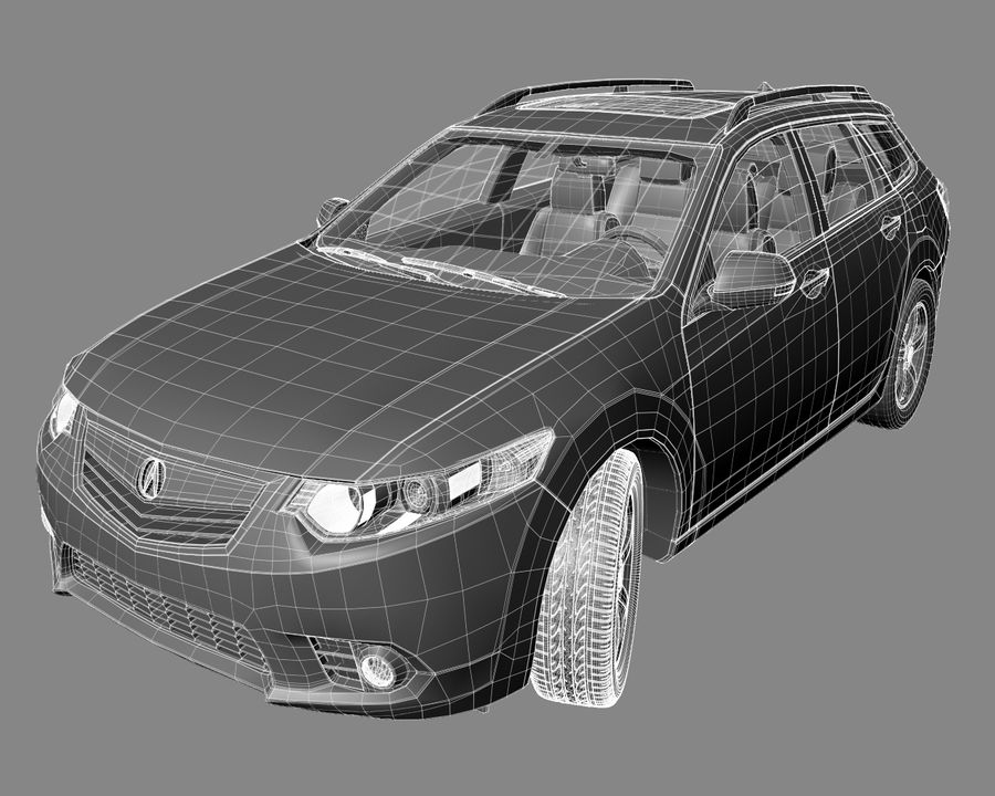 Acura TSX-wagen 2015 royalty-free 3d model - Preview no. 7
