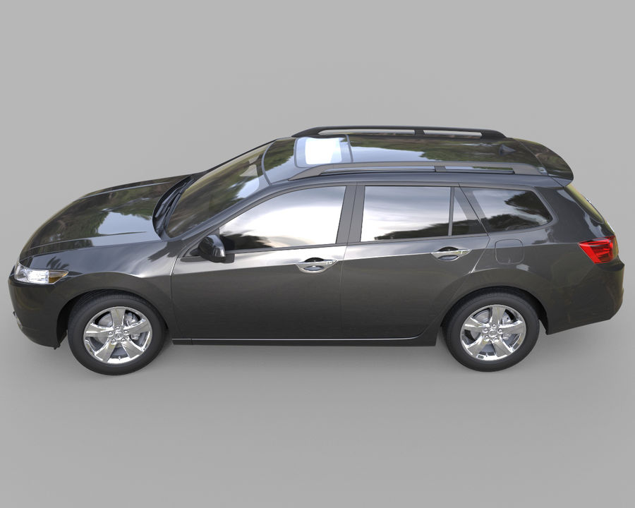 Acura TSX-wagen 2015 royalty-free 3d model - Preview no. 3