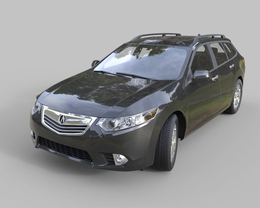 Acura TSX-wagen 2015 royalty-free 3d model - Preview no. 1