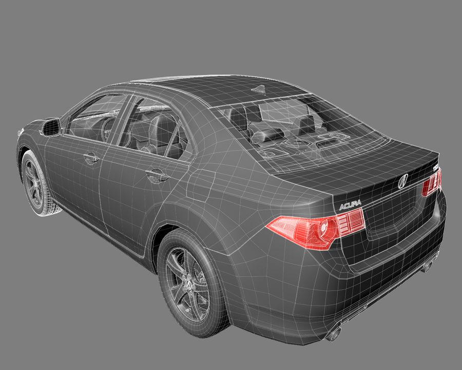 Acura TSX Sedan 2014 royalty-free 3d model - Preview no. 11
