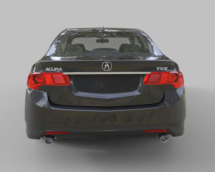 Acura TSX Sedan 2014 royalty-free 3d model - Preview no. 6
