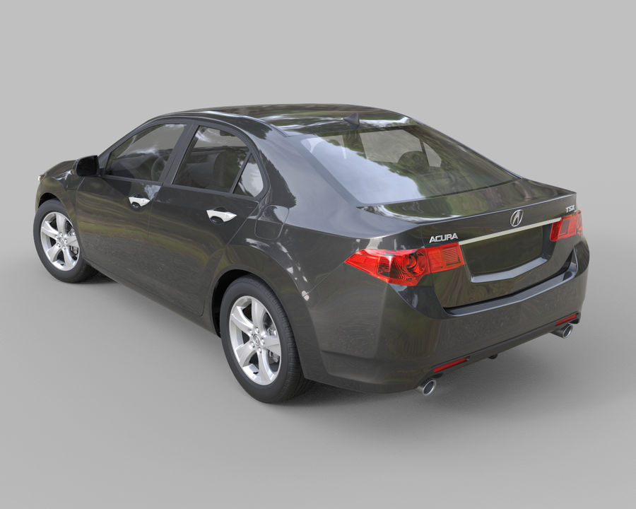 Acura TSX Sedan 2014 royalty-free 3d model - Preview no. 4